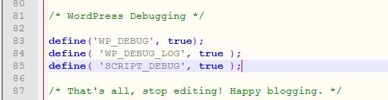 عیب یابی وردپرس با wp-debug