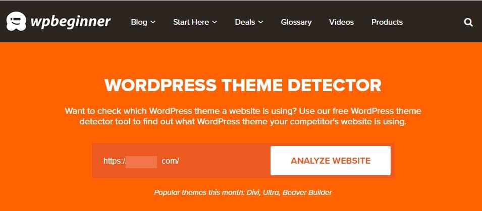 1-ابزار WP Theme Detector