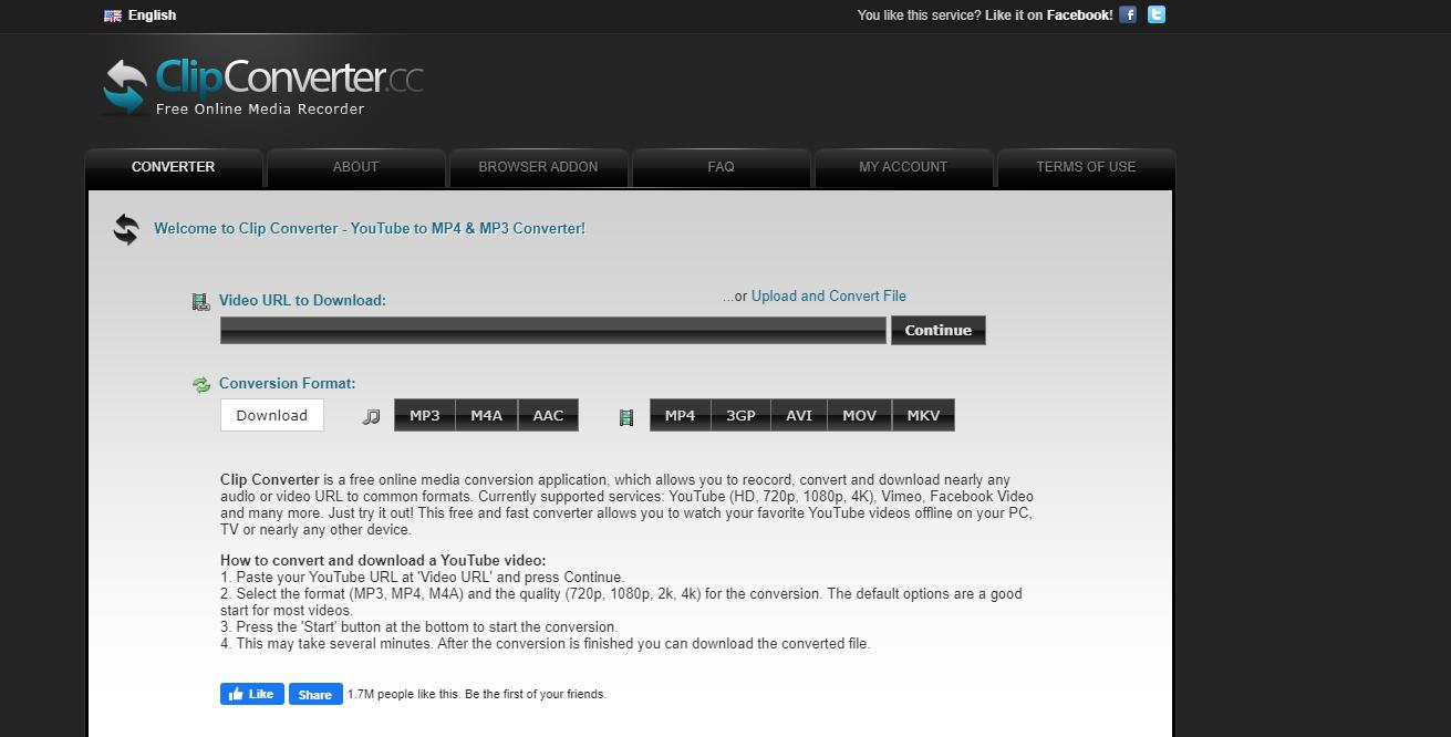 سایت ClipConverter